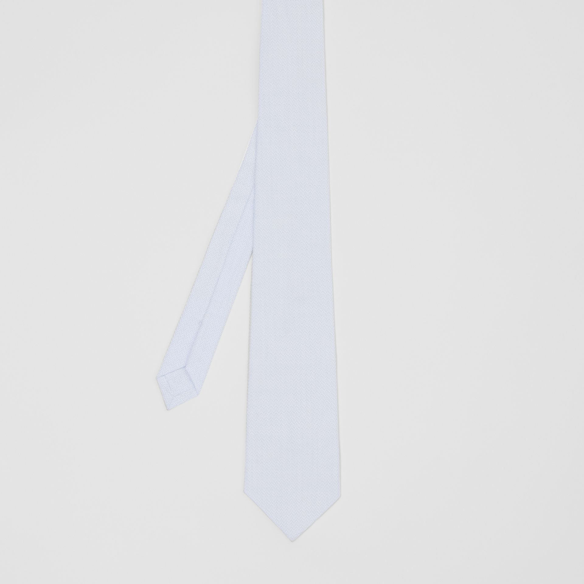 Classic Cut Geometric Print Cotton Tie in Pale Blue | Burberry - gallery image 4