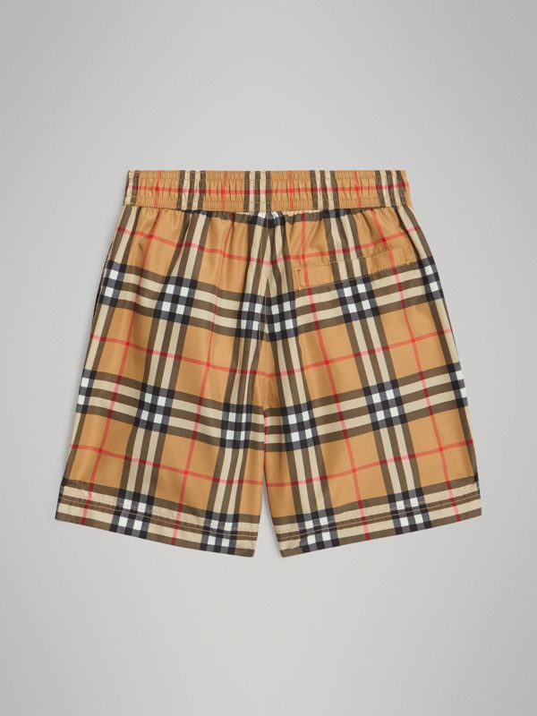 Vintage Check Swim Shorts in Antique Yellow | Burberry - cell image 3