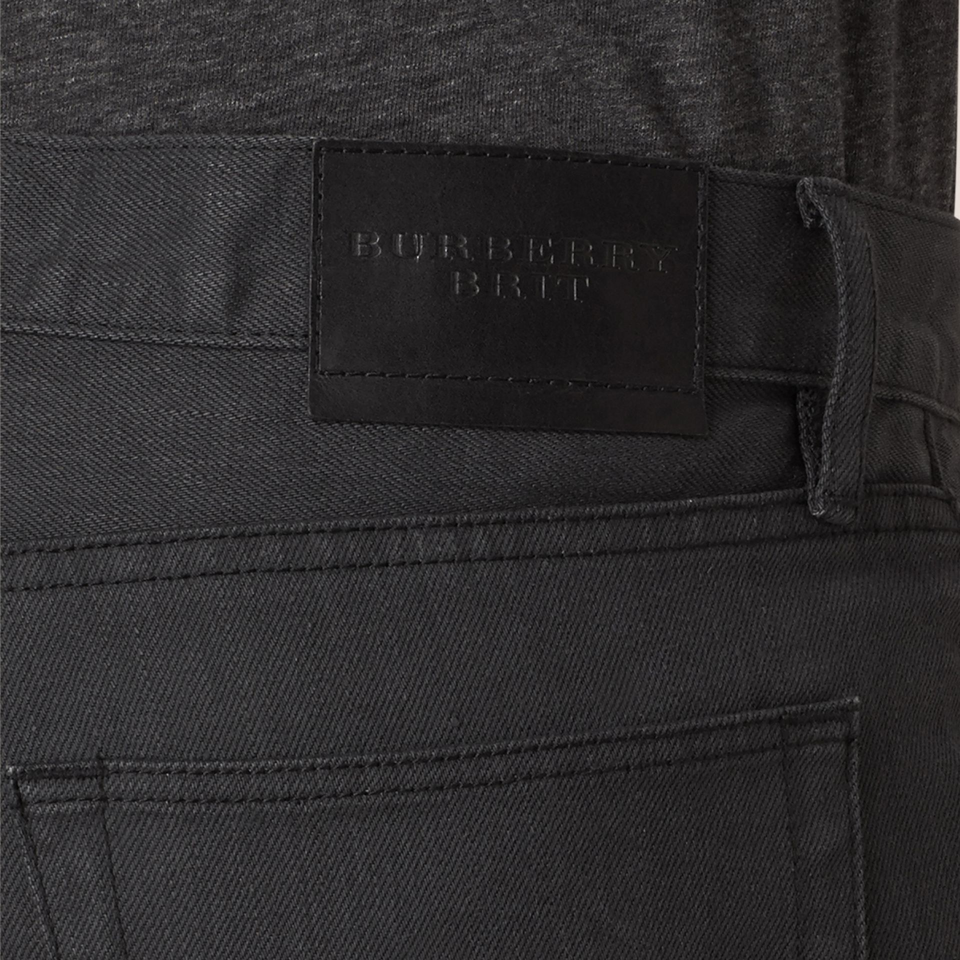 Storm grey Slim Fit Japanese Selvedge Jeans - gallery image 2