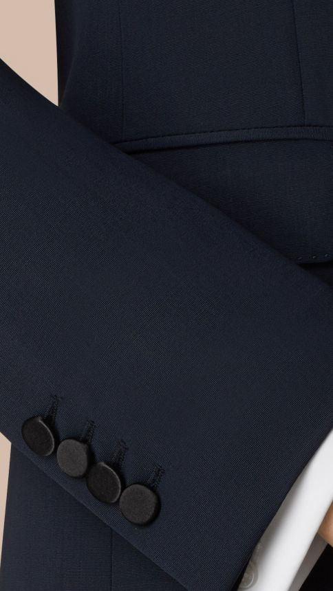 Navy Modern Fit Virgin Wool Half-canvas Tuxedo - Image 2