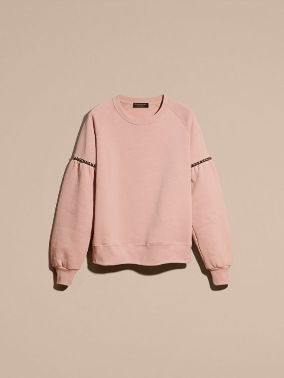 Dusty pink Bell-sleeved Cotton Blend Sweatshirt - cell image 3