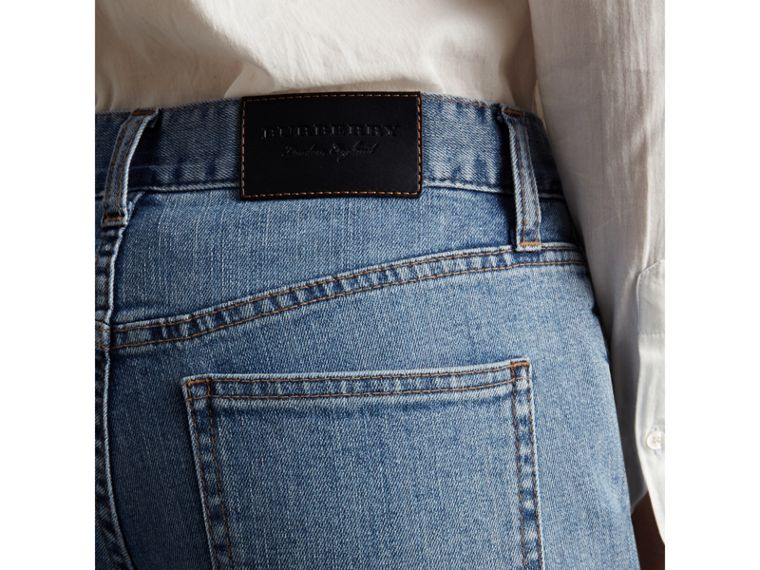 Slim Fit Seam Detail Japanese Denim Jeans - Women | Burberry - cell image 1
