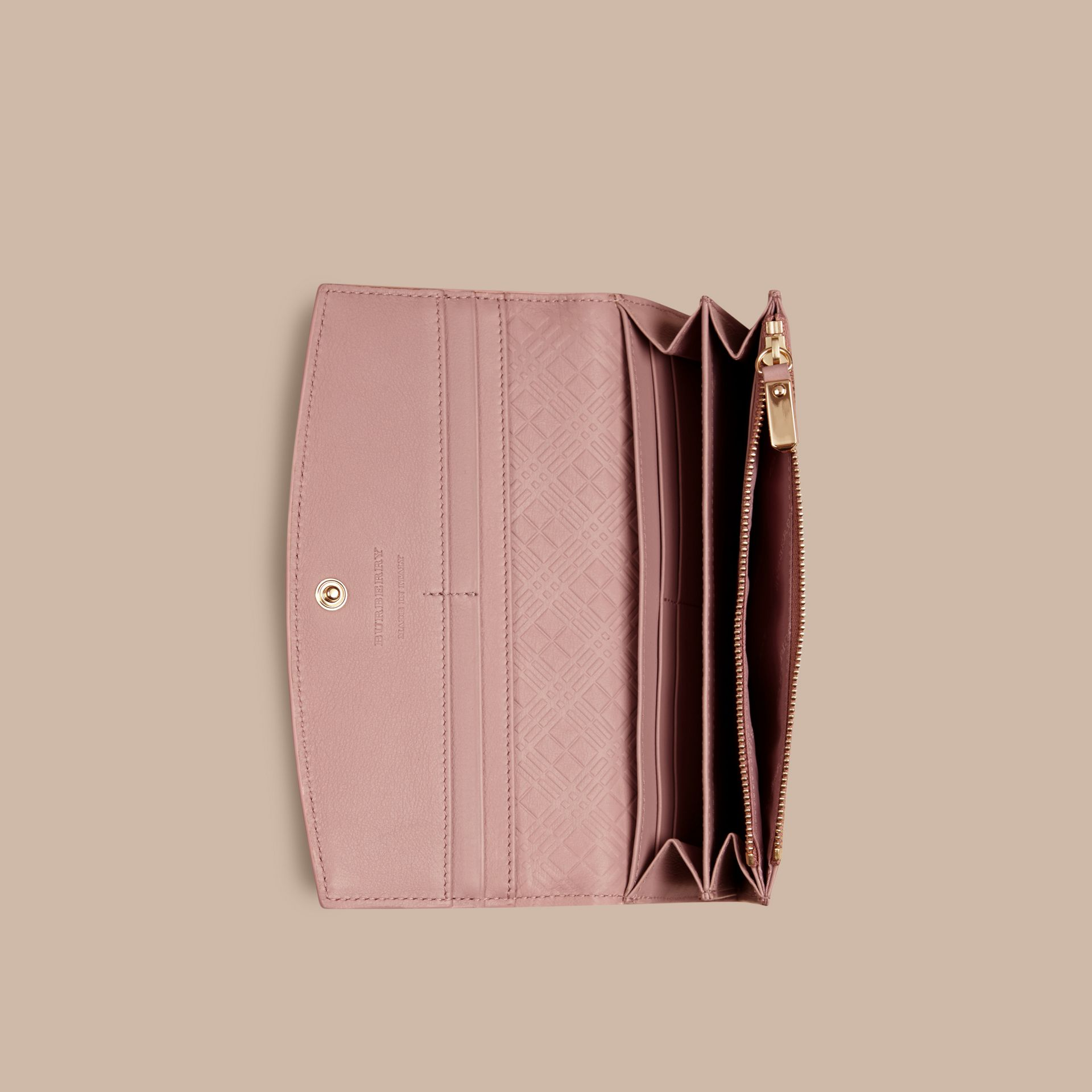 Ash rose Patent London Leather Continental Wallet Ash Rose - gallery image 5