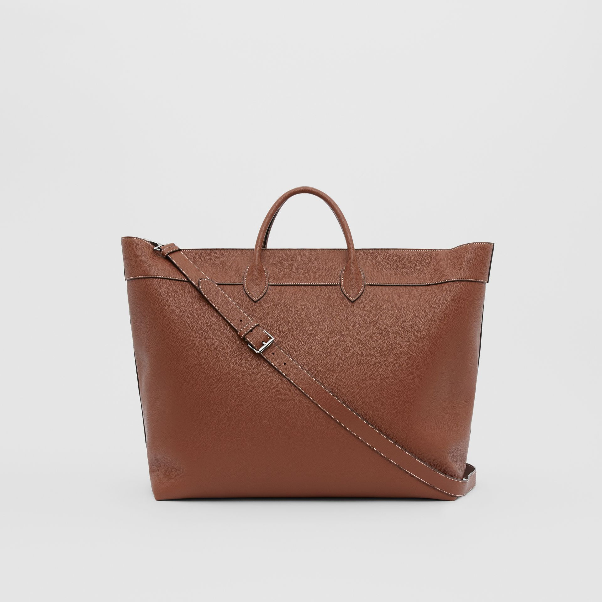Grainy Leather Holdall in Tan - Men | Burberry Canada - gallery image 7