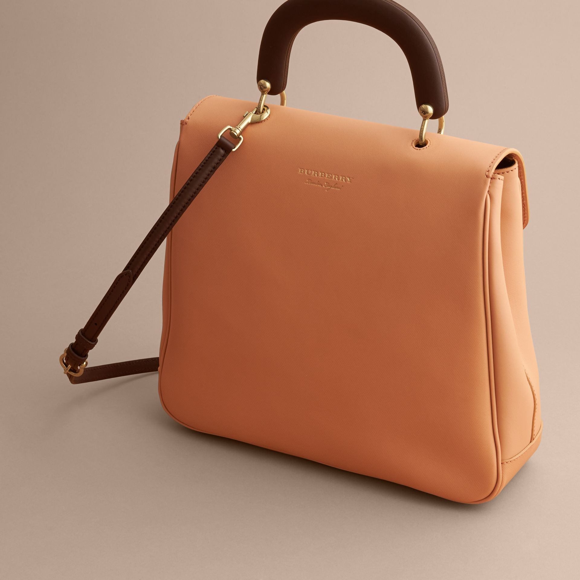 The Large DK88 Top Handle Bag Pale Clementine - gallery image 4