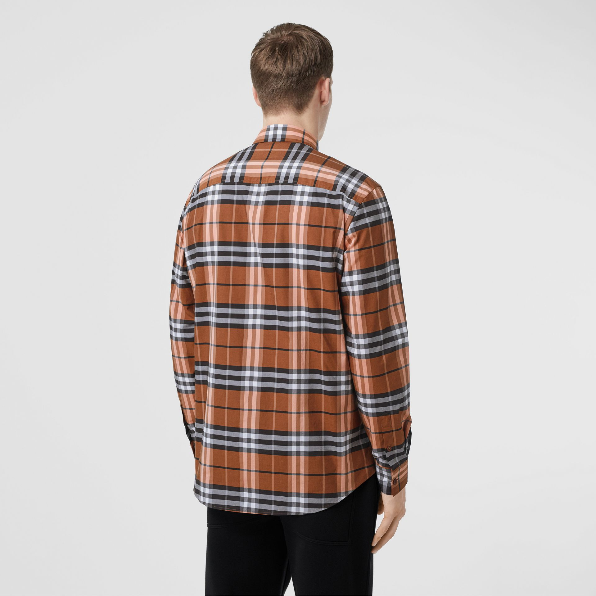 Vintage Check Cotton Poplin Shirt in Clementine - Men | Burberry - gallery image 2