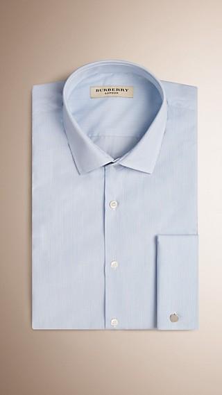 Modern Double-cuff Striped Cotton Poplin Shirt