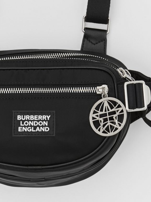Logo Appliqué ECONYL® Cannon Belt Pack in Black | Burberry - cell image 1