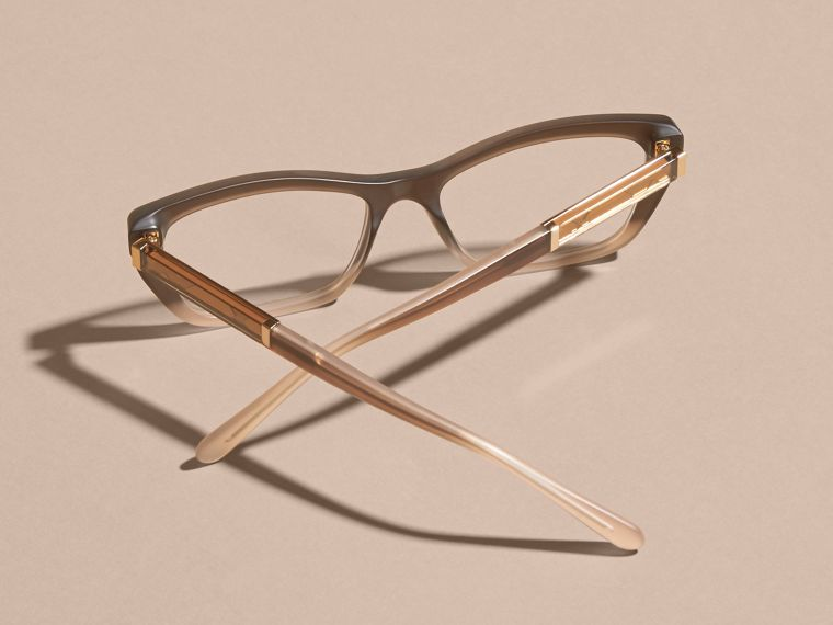 Carnation melange Check Detail Rectangular Cat-eye Optical Frames Carnation Melange - cell image 4