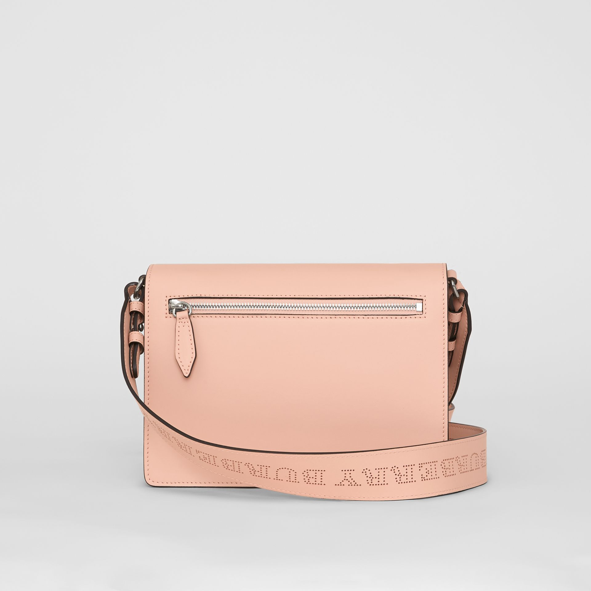 Small Perforated Logo Leather Crossbody Bag in Pale Fawn Pink - Women | Burberry - gallery image 7
