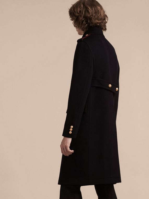Navy Technical Wool Military Overcoat - cell image 2