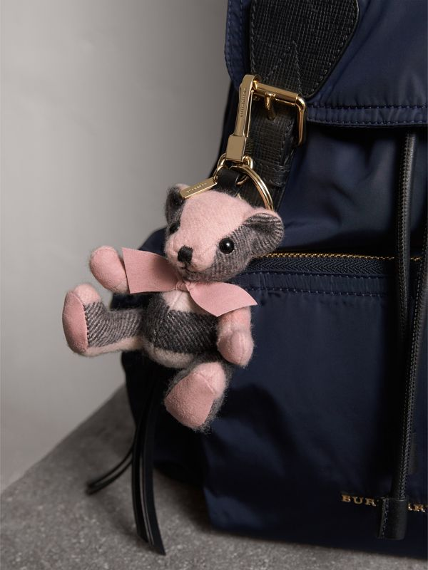 Thomas Bear Charm in Check Cashmere in Ash Rose | Burberry Hong Kong - cell image 2