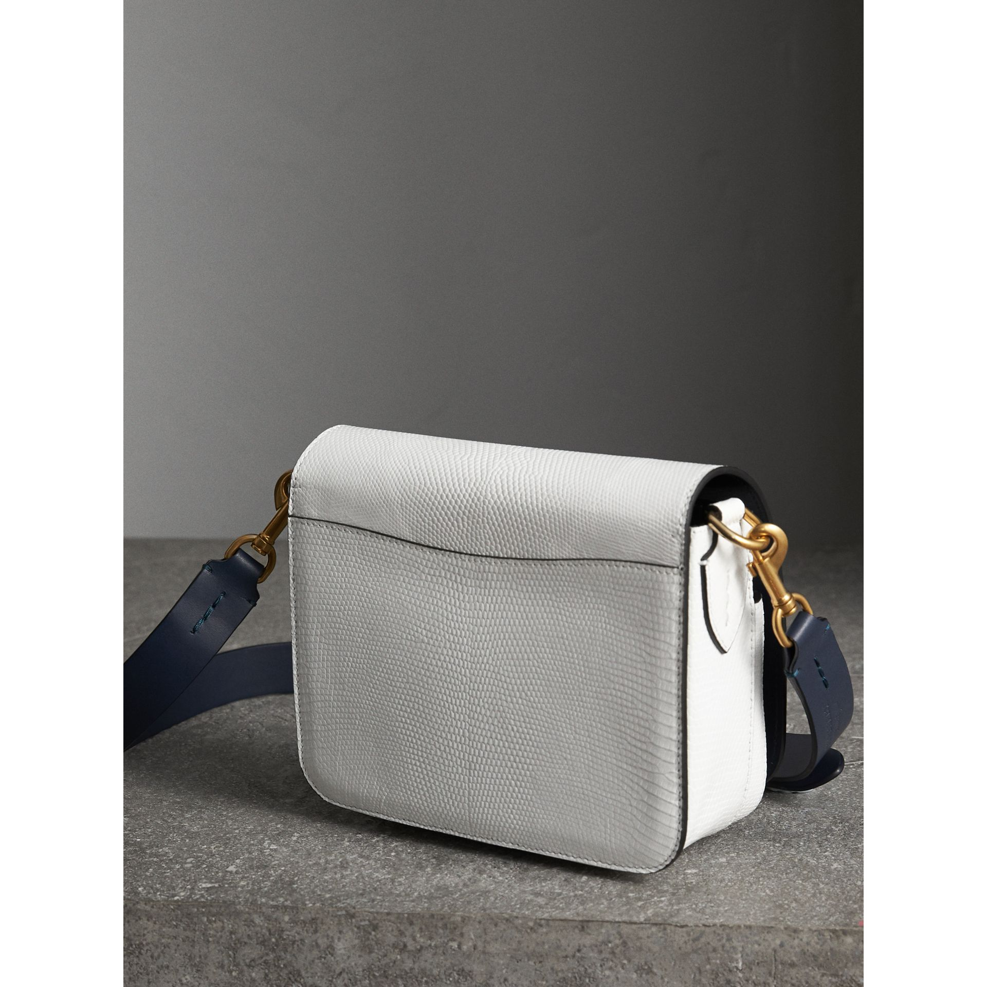 The Square Satchel in Lizard in White - Women | Burberry - gallery image 4