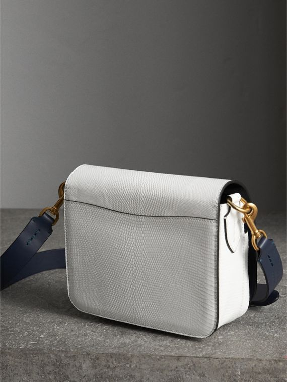 The Square Satchel in Lizard in White - Women | Burberry - cell image 2