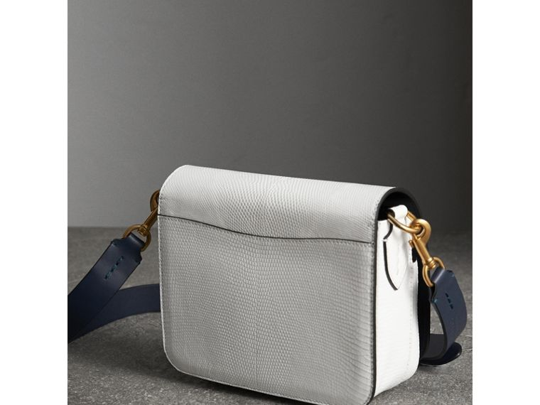 The Square Satchel in Lizard in White - Women | Burberry Singapore - cell image 4