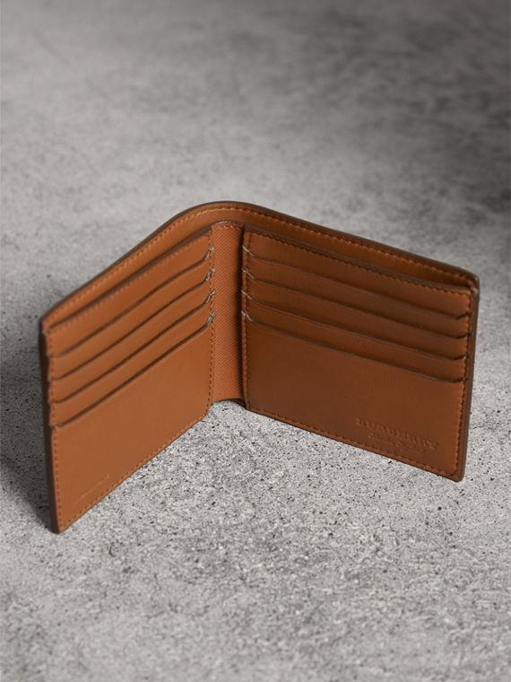 Trench Leather International Bifold Wallet in Tan - Men | Burberry United States - cell image 3
