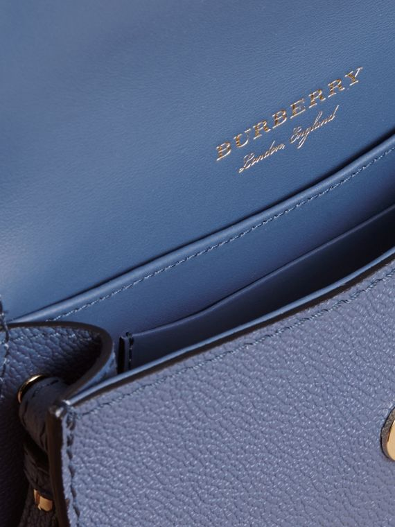 The Mini Buckle Bag in Grainy Leather in Steel Blue - Women | Burberry - cell image 3