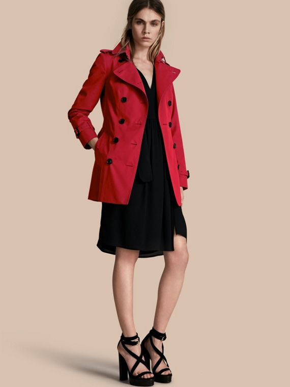 The Sandringham - Trench coat Heritage curto Parade Red