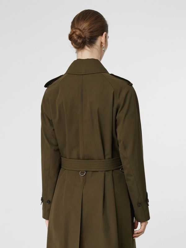 Tropical Gabardine Belted Car Coat in Dark Military Khaki - Women | Burberry Hong Kong S.A.R - cell image 3