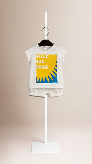 Hello Sunshine Graphic Cotton T-shirt