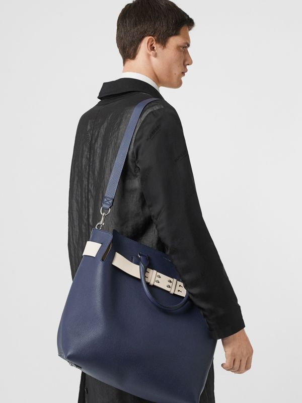 Grand sac The Belt en cuir (Bleu Régence) - Femme | Burberry - cell image 3