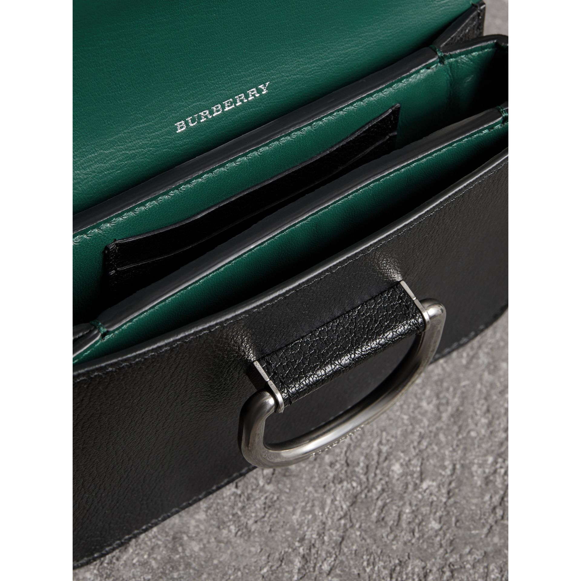 The Mini Leather D-ring Bag in Black - Women | Burberry Canada - gallery image 3
