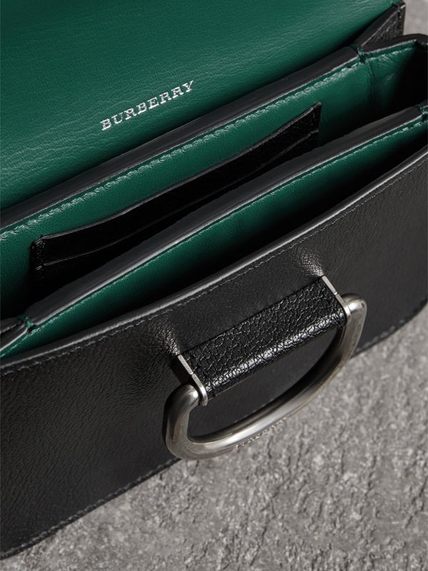 The Mini Leather D-ring Bag in Black - Women | Burberry United Kingdom - cell image 3