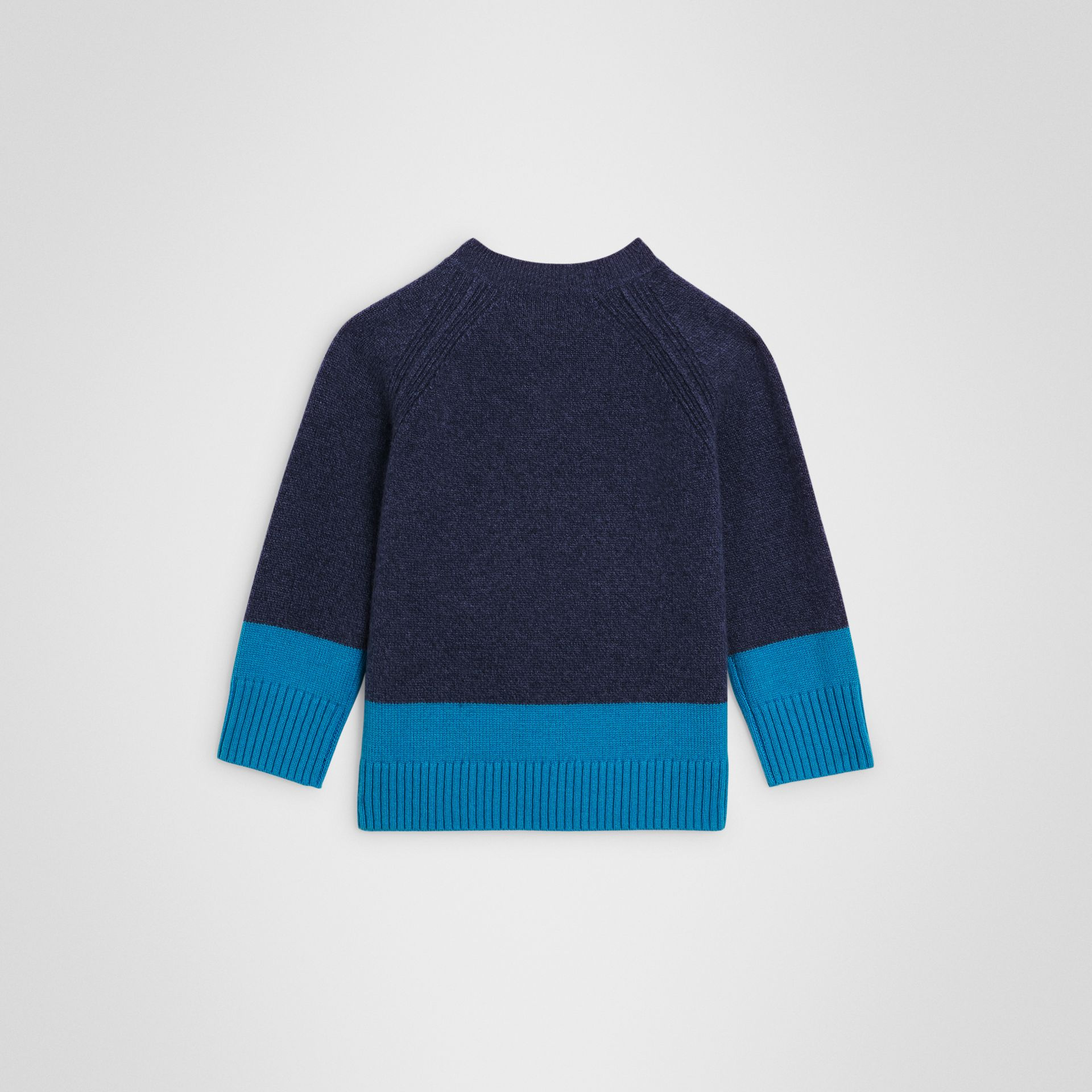 Logo Intarsia Cashmere Sweater in Navy | Burberry - gallery image 3