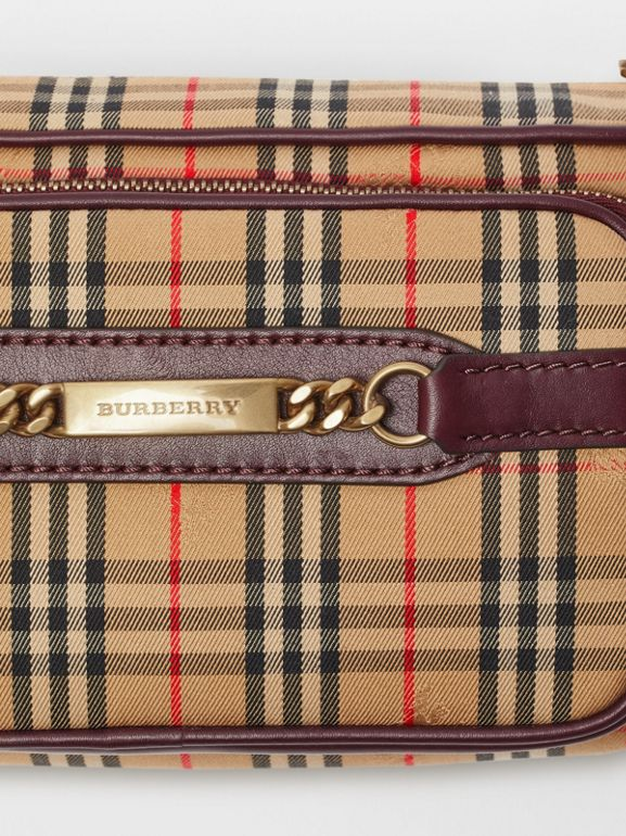 The Large 1983 Check Link Bum Bag in Oxblood - Men | Burberry Australia - cell image 1