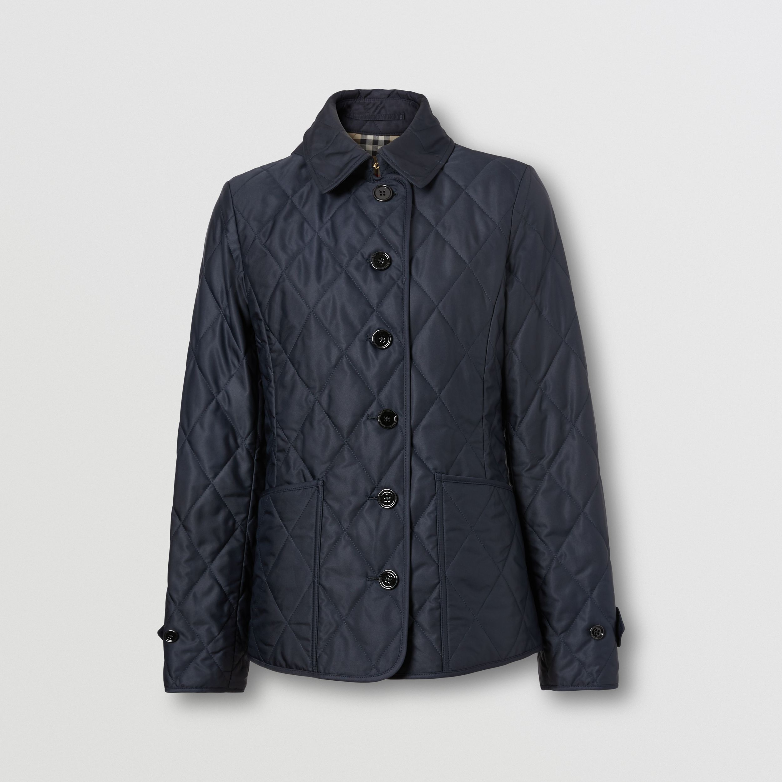 Diamond Quilted Thermoregulated Jacket in Midnight - Women | Burberry - 4