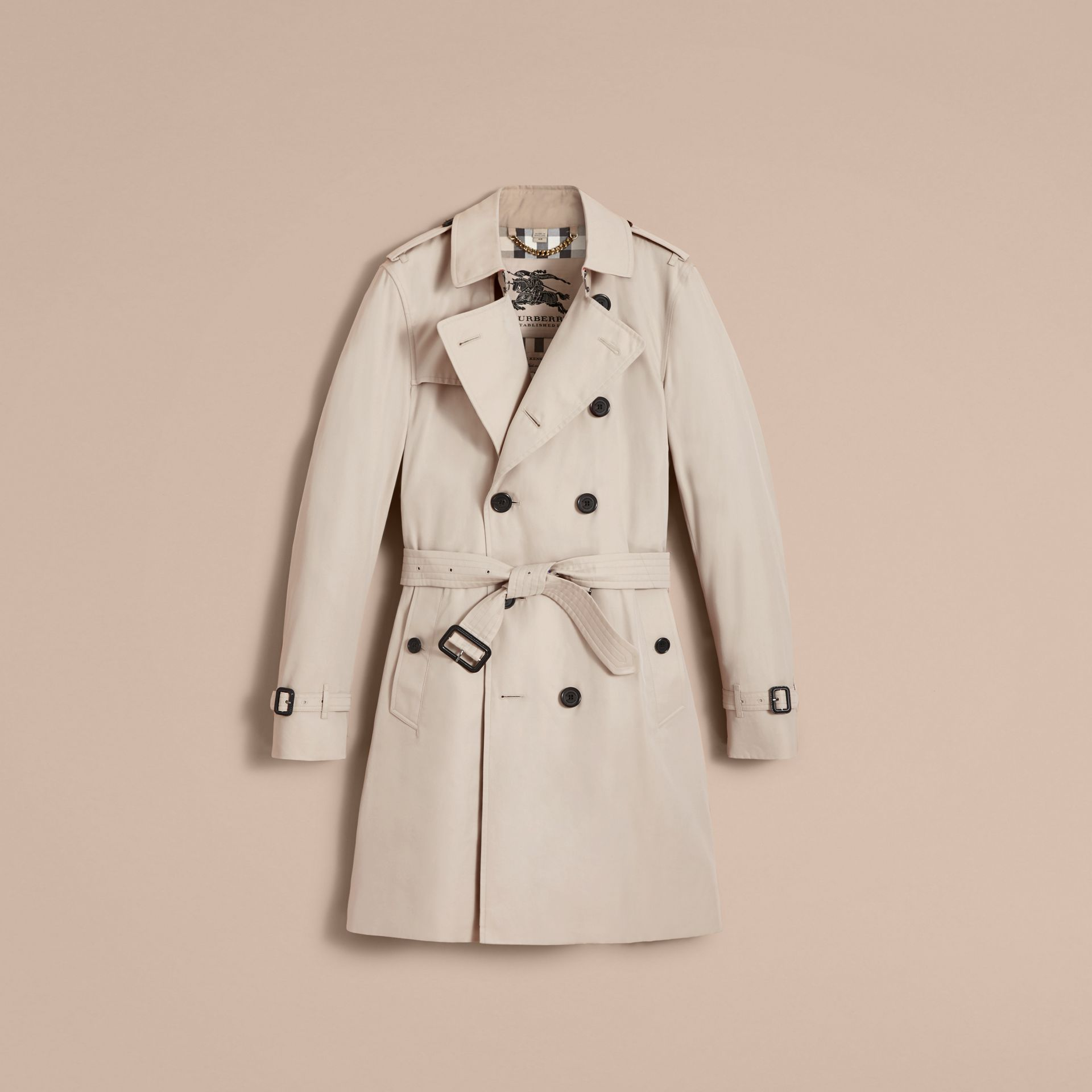 The Kensington – Long Heritage Trench Coat in Stone - gallery image 4
