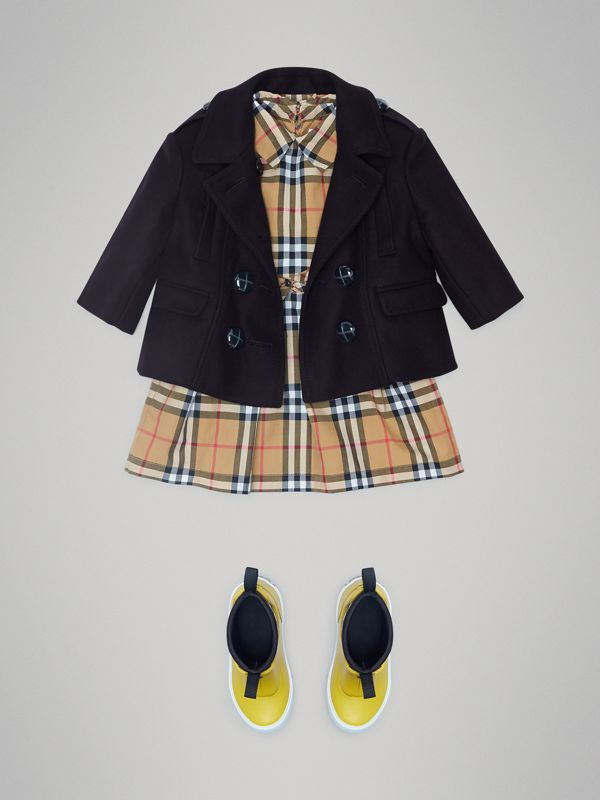 Wool Pea Coat in Navy - Children | Burberry United Kingdom - cell image 2