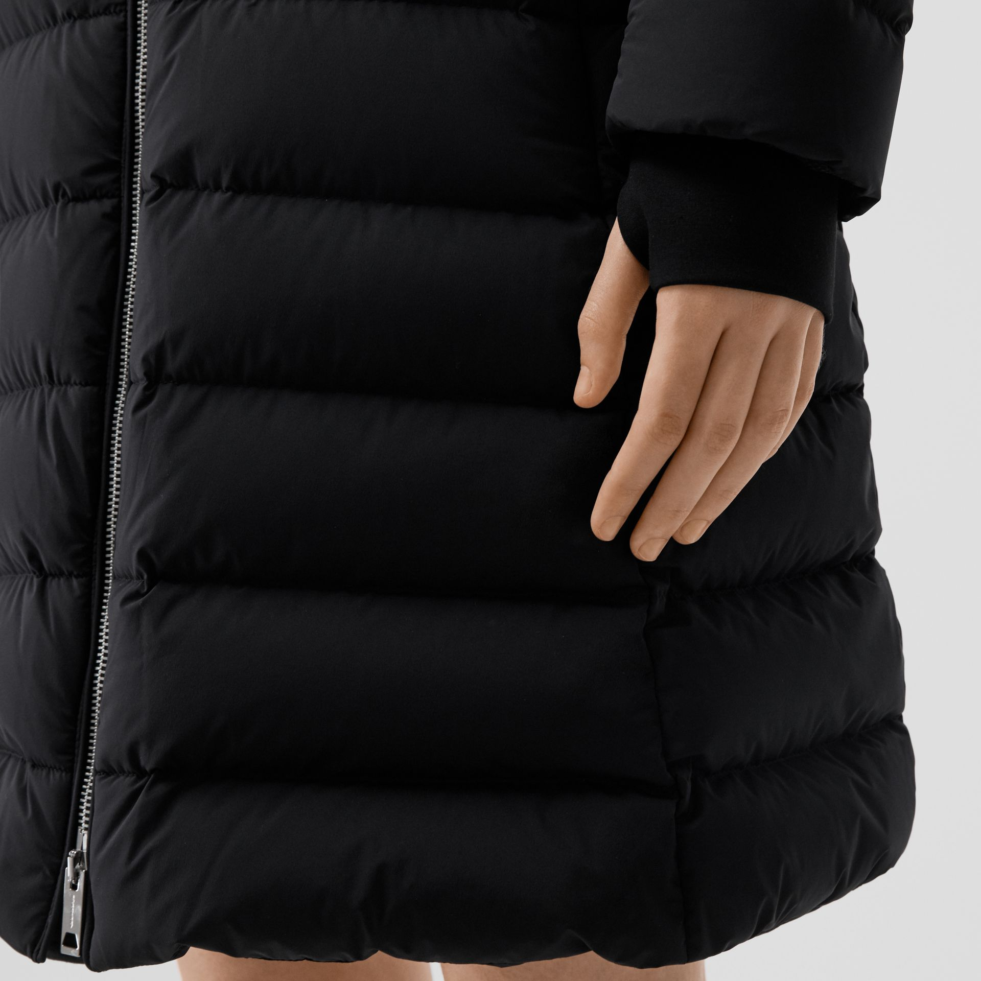 Hooded Puffer Coat in Black - Women   Burberry United States - gallery image 4