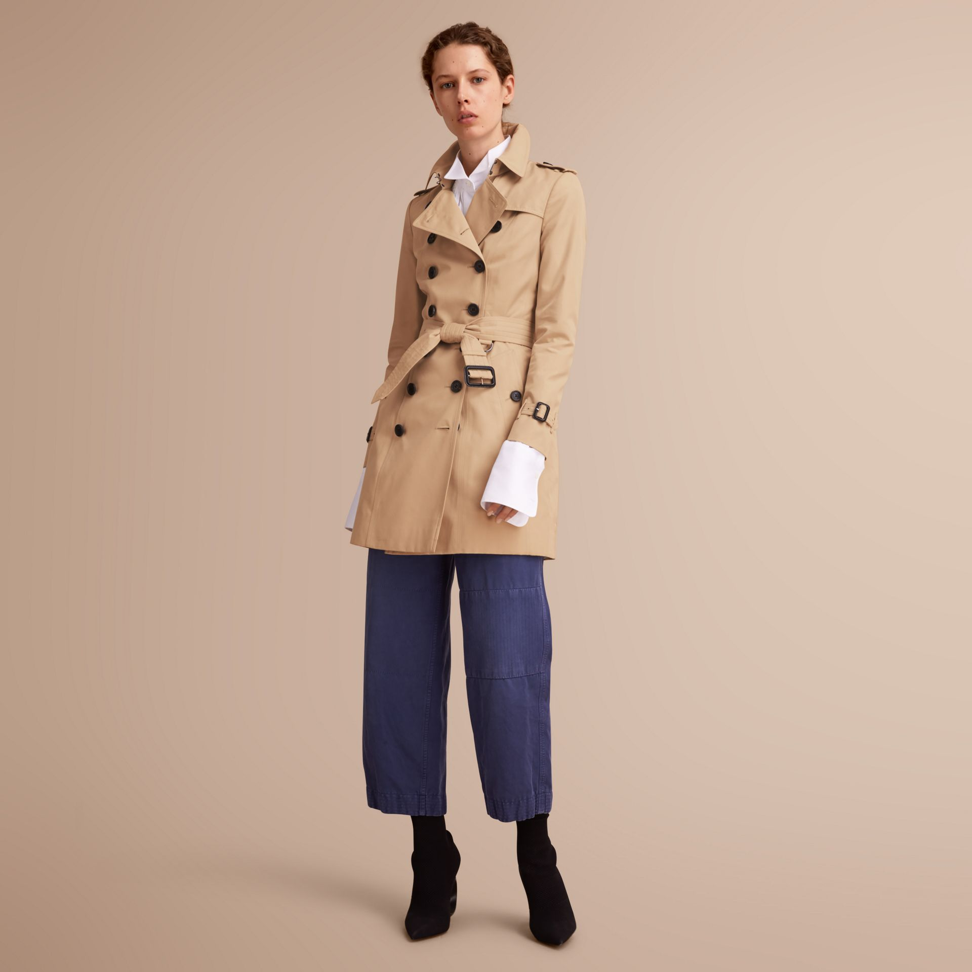 The Chelsea – Mid-length Heritage Trench Coat in Honey - gallery image 1