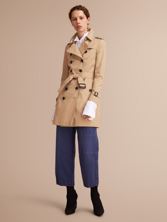 The Chelsea – Trench Heritage mi-long (Miel) - Femme | Burberry