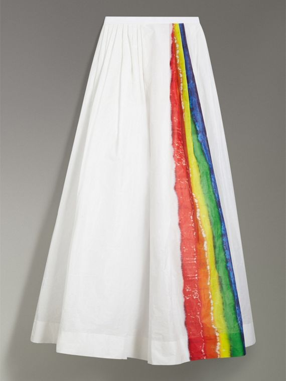 Rainbow Stripe Maxi Skirt - Women | Burberry - cell image 3