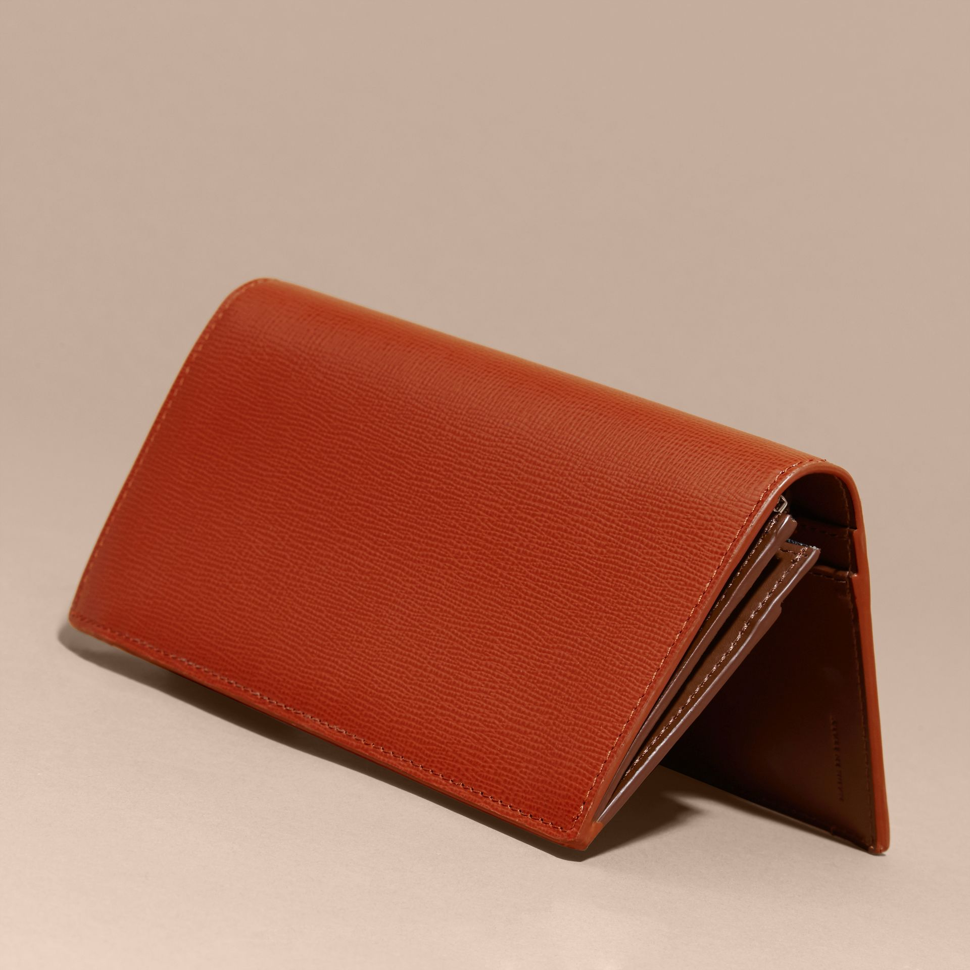 London Leather Continental Wallet Burnt Sienna - gallery image 4