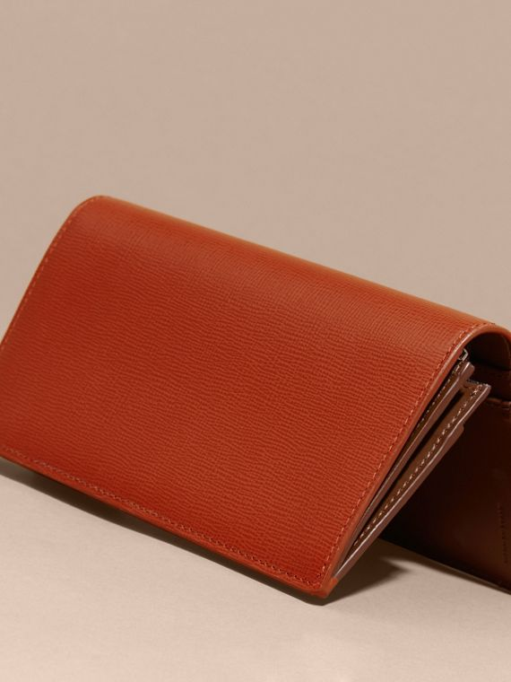 Burnt sienna London Leather Continental Wallet Burnt Sienna - cell image 3