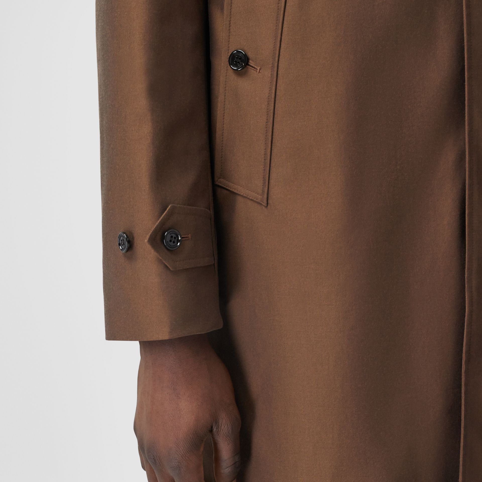 The Pimlico Heritage Car Coat in Amber Brown - Men | Burberry Canada - gallery image 4