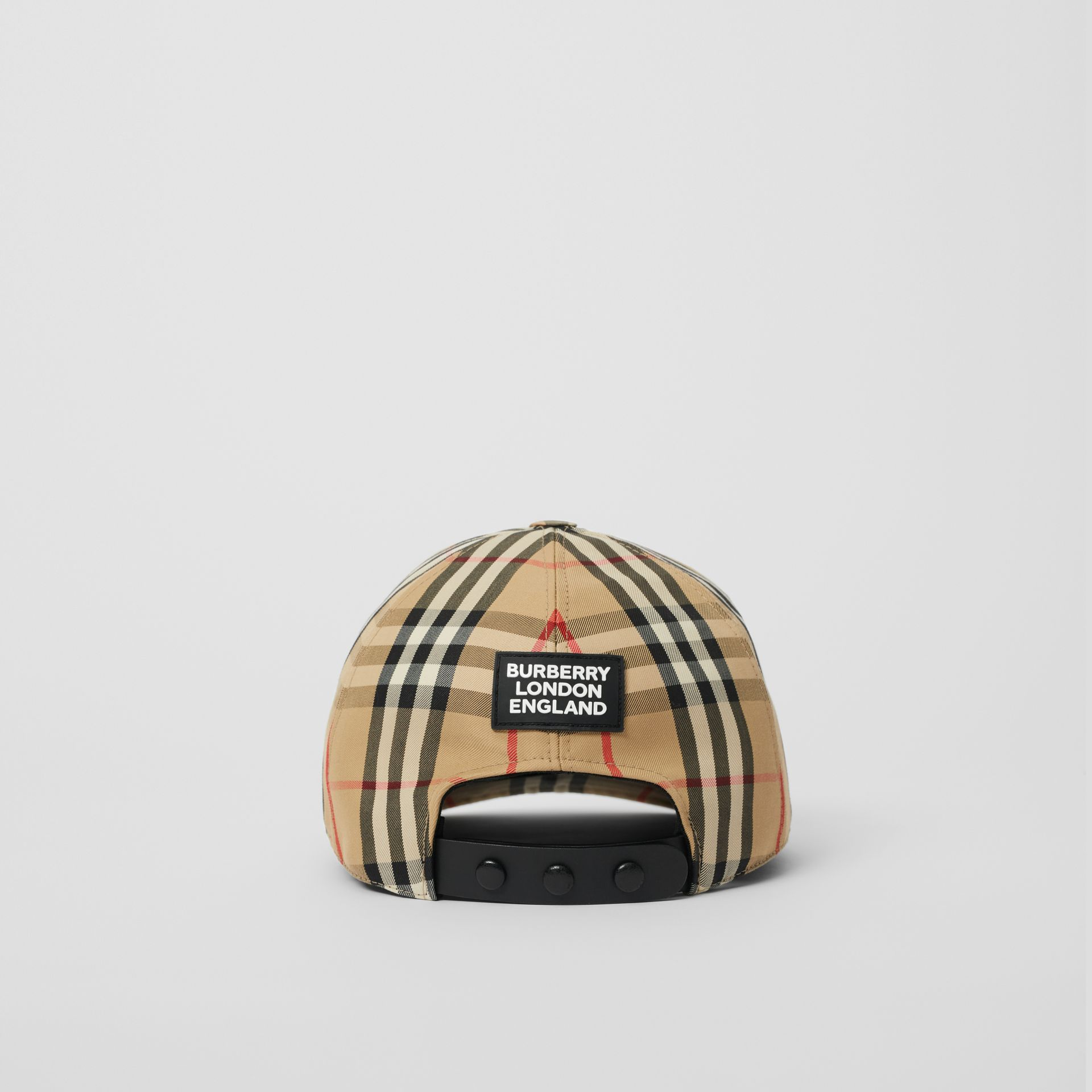 Logo Detail Vintage Check Baseball Cap in Archive Beige | Burberry - gallery image 4