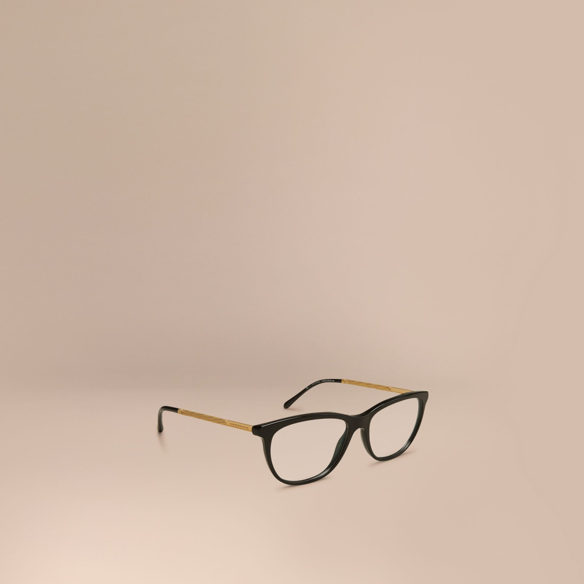Black Gabardine Collection Cat-Eye Optical Frames Black - gallery image 1