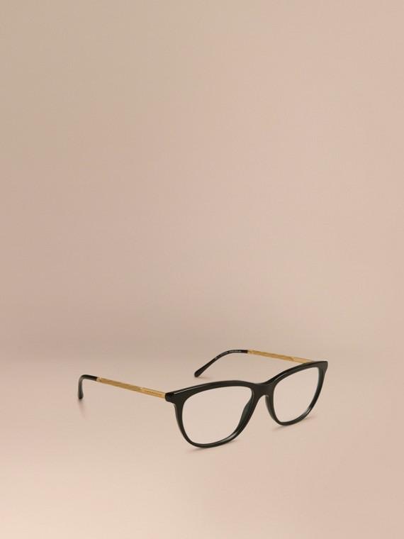 Katzenaugen-Brille aus der Gabardine-Kollektion Schwarz