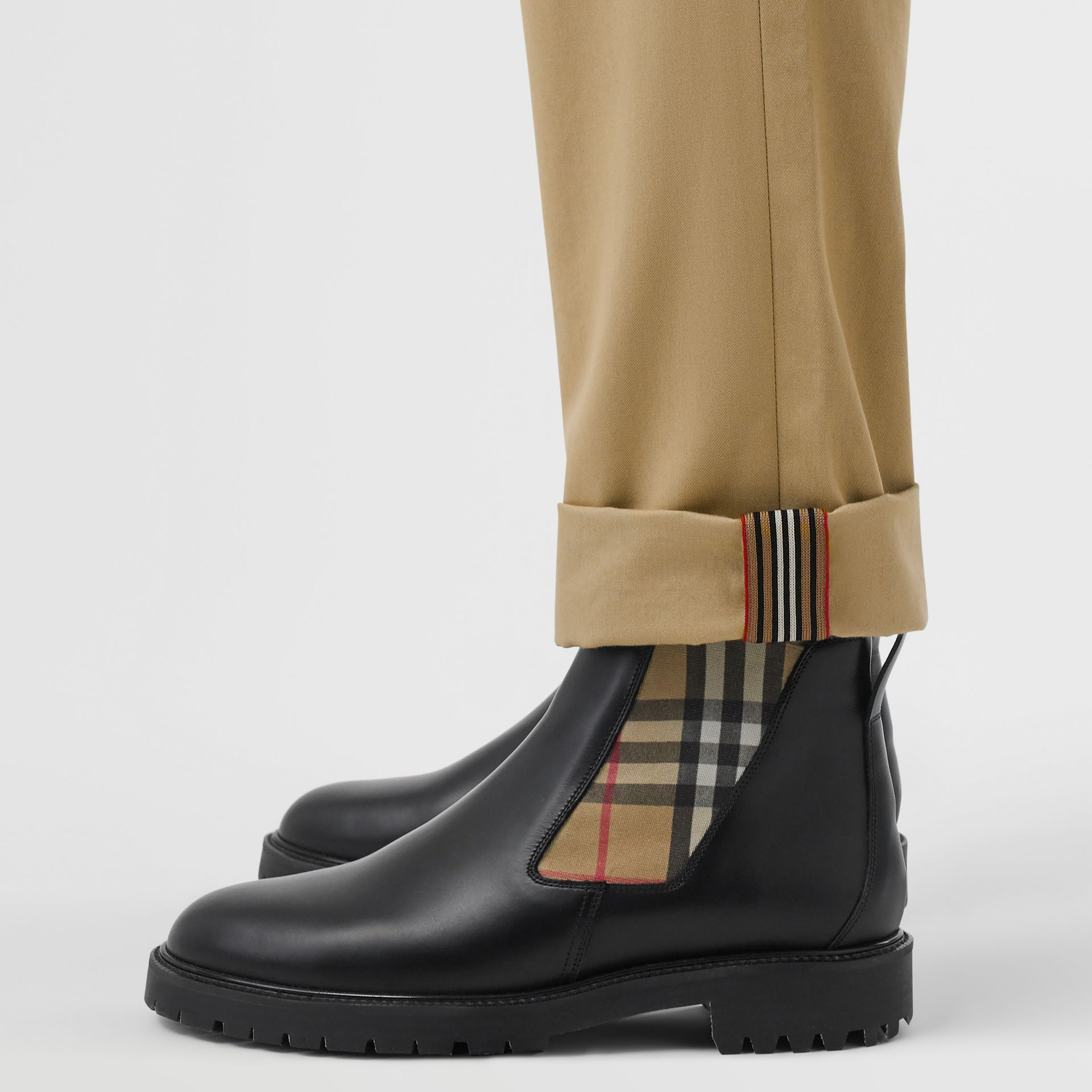 Slim Fit Cotton Chinos in Honey - Men | Burberry Hong Kong S.A.R - gallery image 1