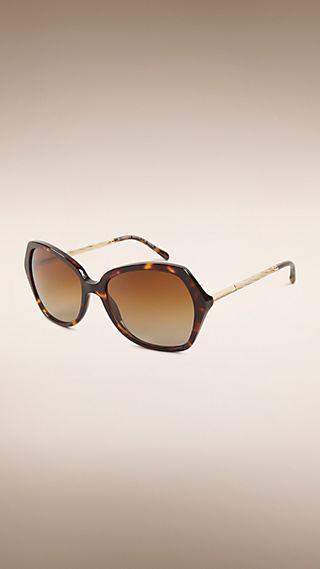 Oversize Square Frame Polarised Sunglasses