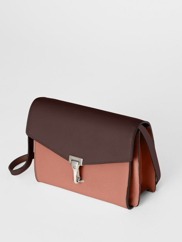 Two-tone Leather Crossbody Bag in Dusty Rose/deep Claret - Women | Burberry United Kingdom - cell image 3