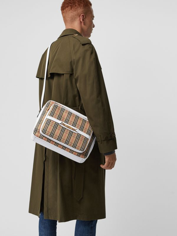 The Large Link Camera Bag im Karodesign (Kreideweiss) - Herren | Burberry - cell image 3