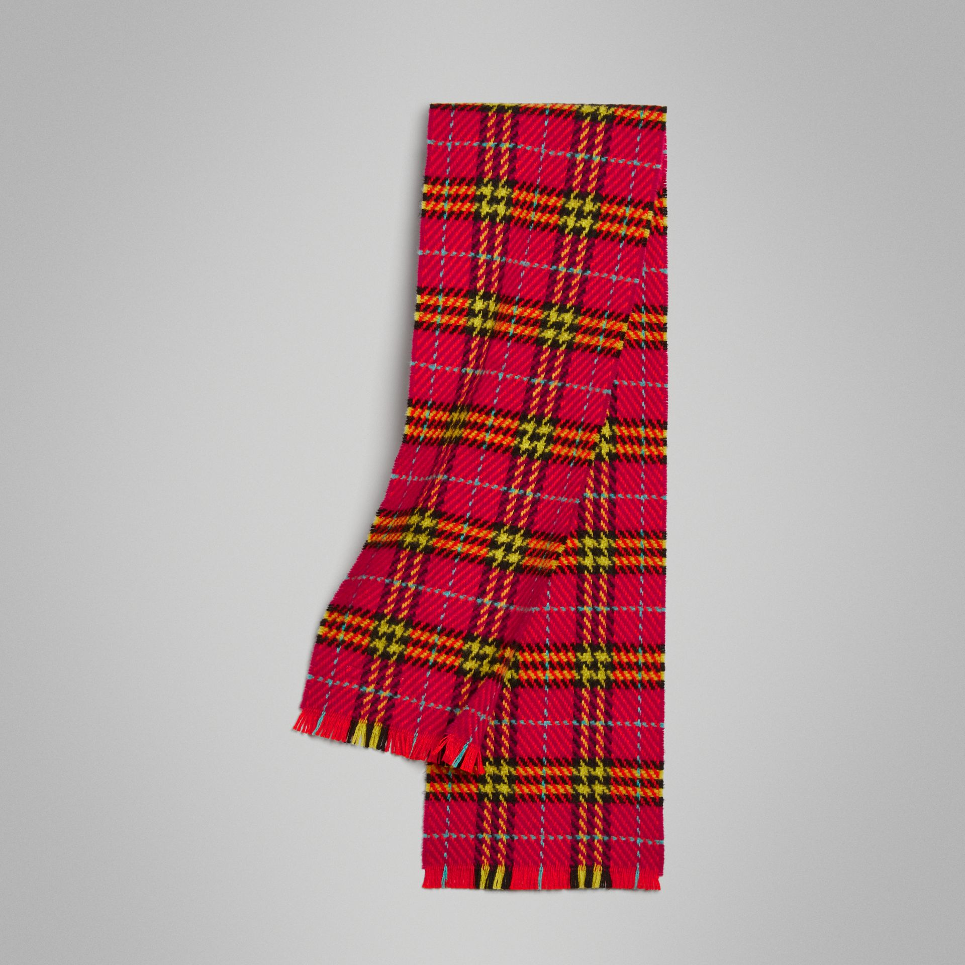 Vintage Check Merino Wool Scarf in Pomegranate Pink | Burberry Hong Kong - gallery image 0