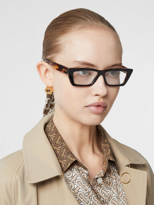 Rectangular Optical Frames in Tortoiseshell - Women | Burberry - cell image 2