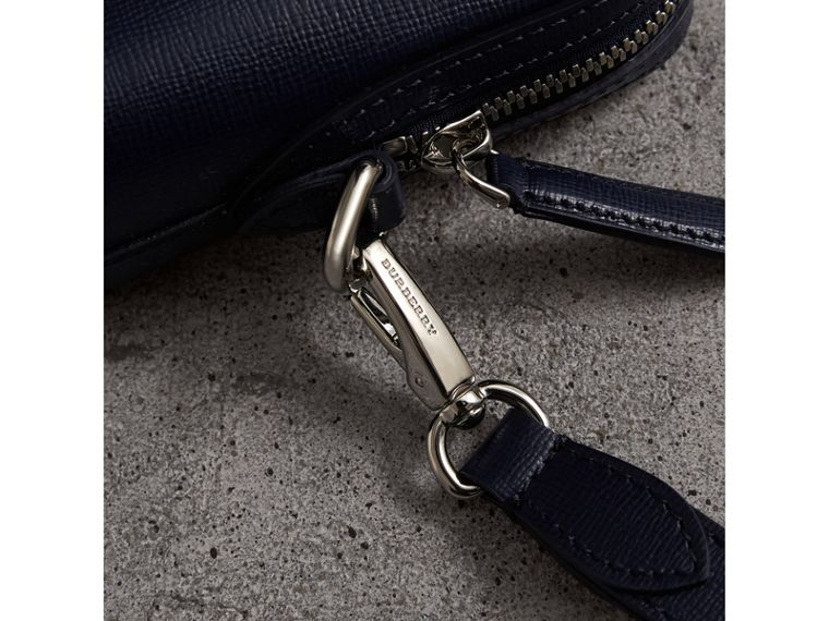 London Leather Pouch in Dark Navy - Men | Burberry - cell image 1