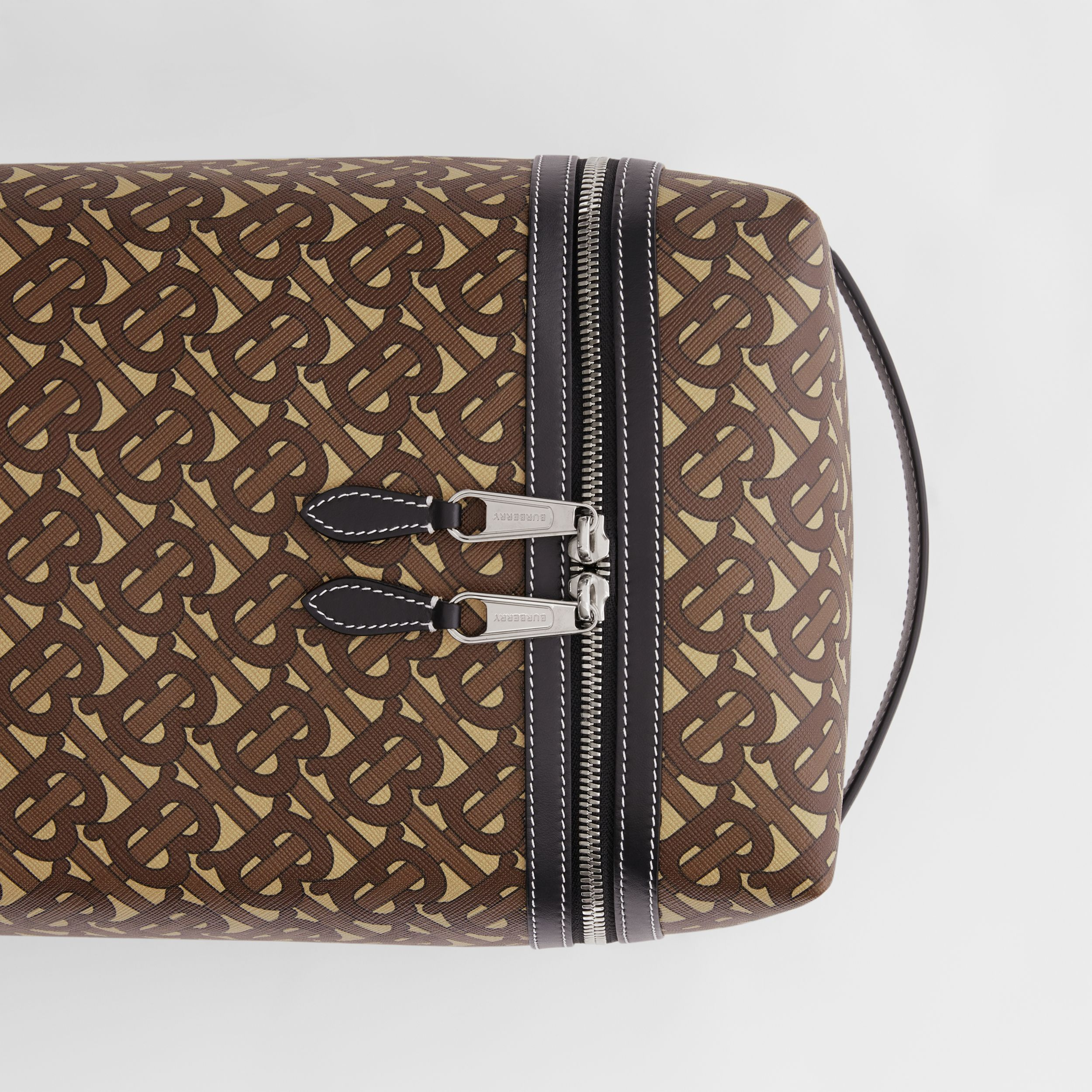 Monogram Print E-canvas Sneaker Bag in Bridle Brown | Burberry - 2